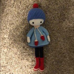 Hand knit babydoll